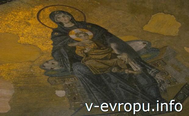 Мозаика в Святой Софии (Стамбул)