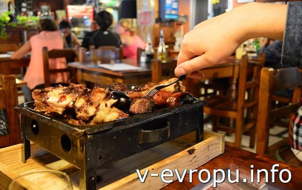 Парижья (жаровня с мясом, заказывается в ресторане)