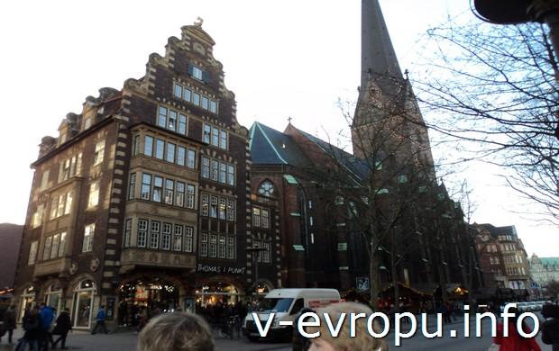 Городская Ратуша Гамбурга на Рождество