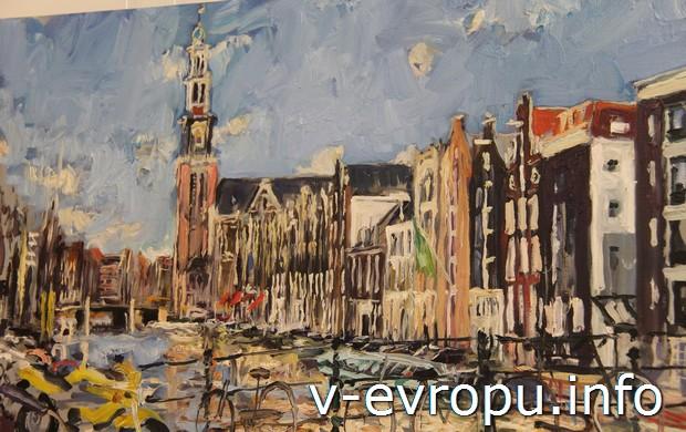 Каналы Амстердама в работе голландского художника