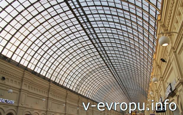 Шуховский ажурный потолок ГУМа