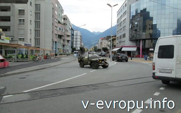 Улица от вокзала Martigny