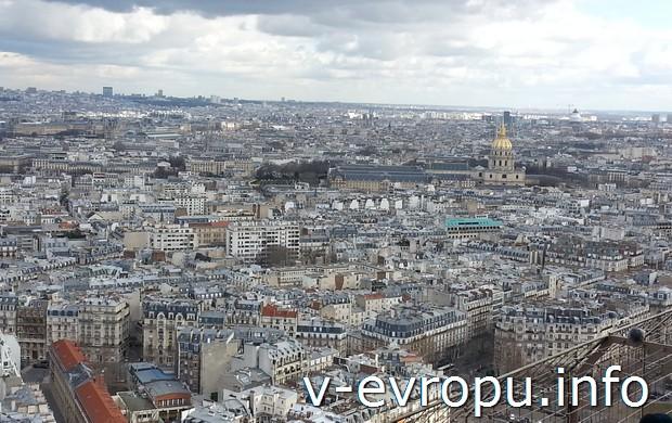 Панорама Парижа с Эйфелевой башни
