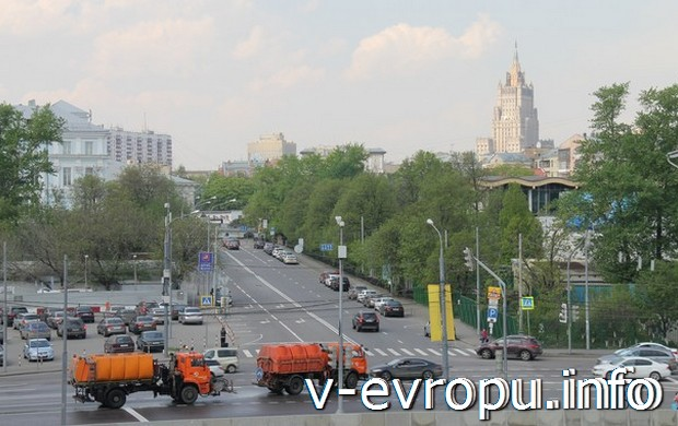 Вид на Москву с Крымского моста
