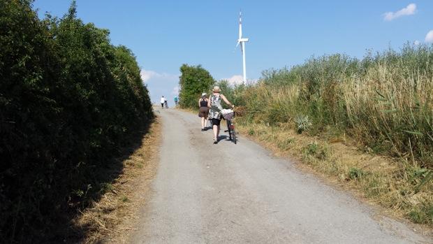 Иногда велосипеды ехали на нас