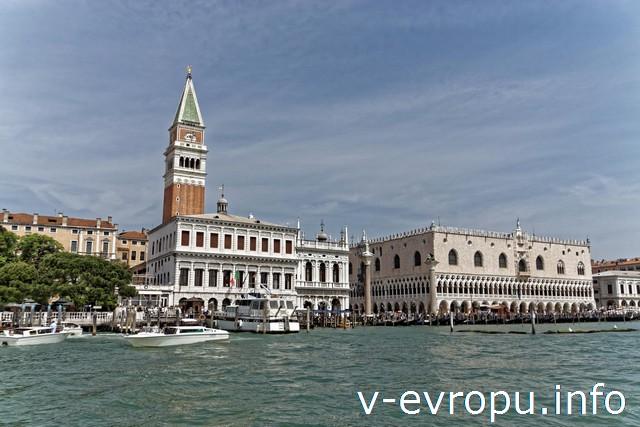 Венеция. Дворец Дожей. Колокольня Сан-Марко