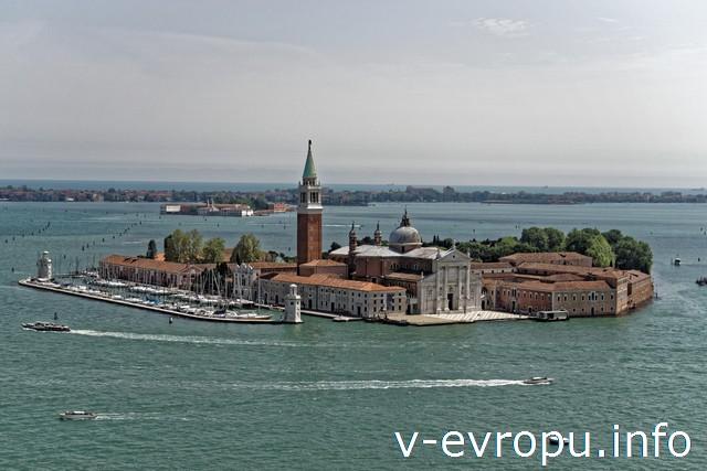 Венеция. Вид с колокольни Сан-Марко на остров Сан Джорджио